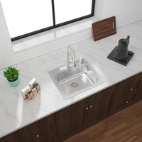 ADA Compliant, Single Bowl Topmount Builder Stainless Steel Kitchen Sink image