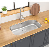 ADA Compliant, Single Bowl Undermount Deluxe Stainless Steel Kitchen Sink image