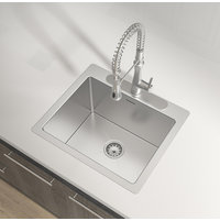 Single Bowl Handcrafted Undermount Stainless Steel Laundry Sink image