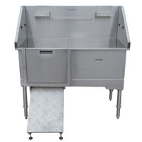 Handcrafted Stand-Alone Stainless Steel Dog Bath Stations image