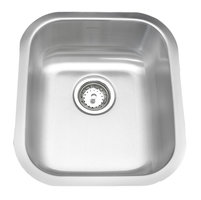 ADA Compliant, Single Bowl Undermount Deluxe Stainless Steel Bar Sink image