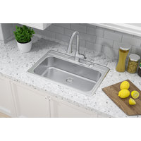 ADA Compliant, Single Bowl Topmount Economy Stainless Steel Kitchen Sink image