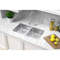 ADA Compliant, Double Bowl Undermount Legend Stainless Steel Kitchen Sink image