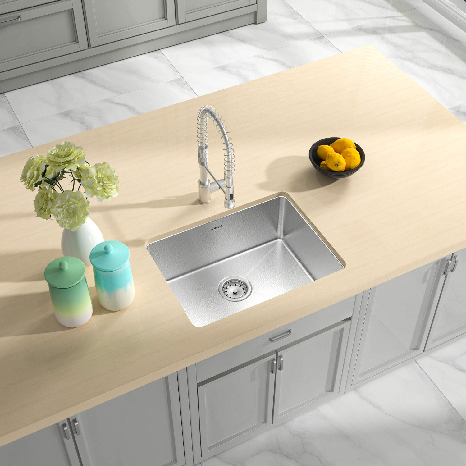 ADA Compliant, Single Bowl Undermount Legend Stainless Steel Kitchen Sink