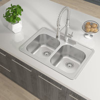 Double Bowl Topmount Builder Stainless Steel Kitchen Sink image