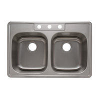 Double Bowl Topmount Economy Stainless Steel Kitchen Sink image