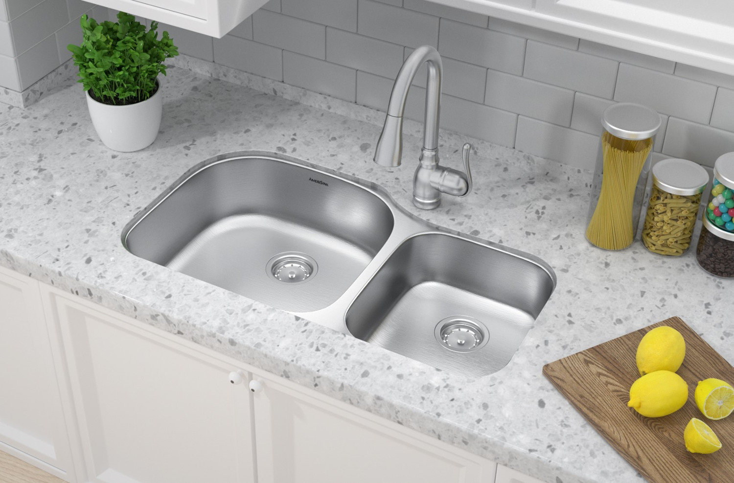 Double Bowl Undermount Deluxe Stainless Steel Kitchen Sink
