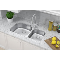 Double Bowl Undermount Deluxe Stainless Steel Kitchen Sink image