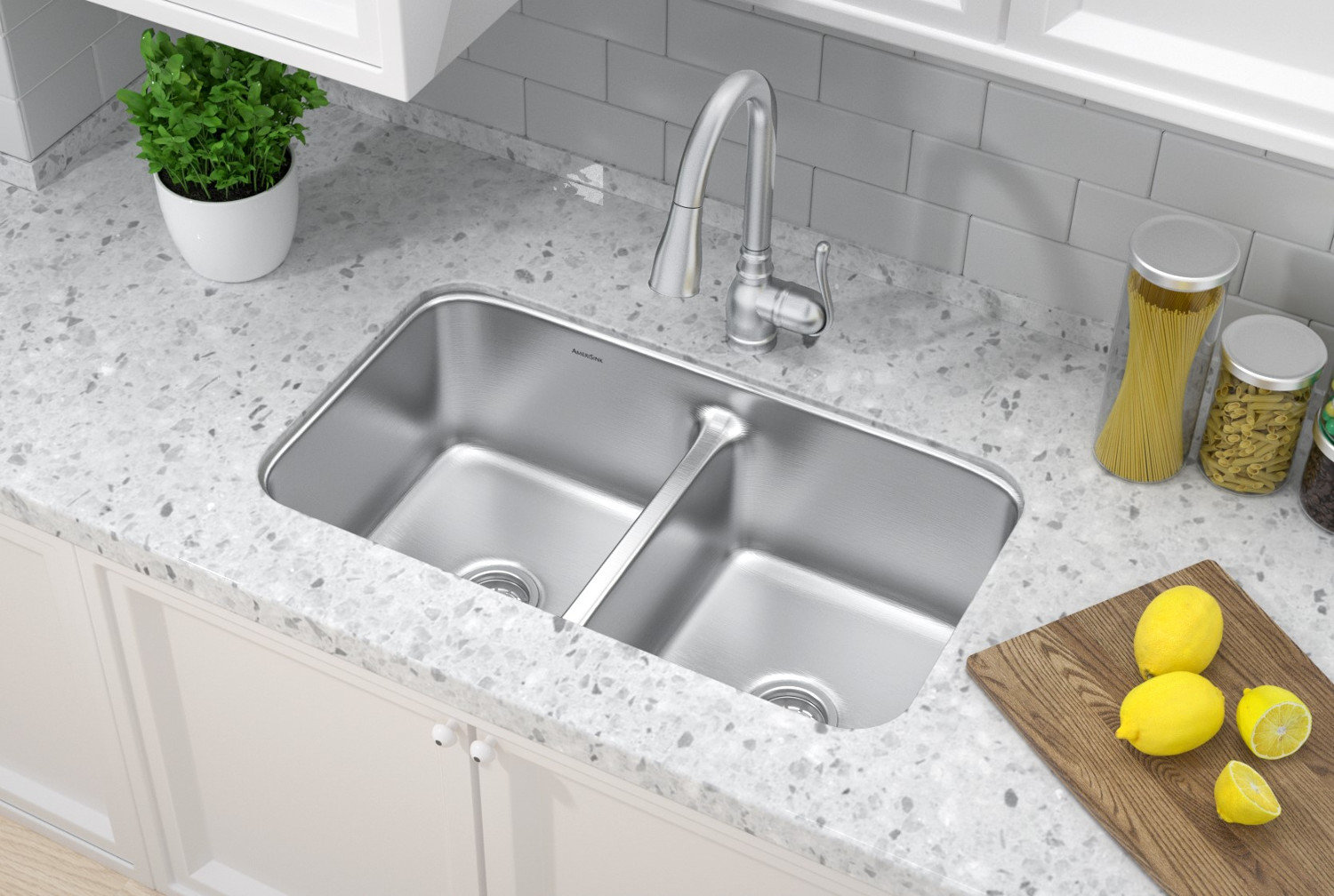 Double Bowl Undermount Trend Stainless Steel Kitchen Sink