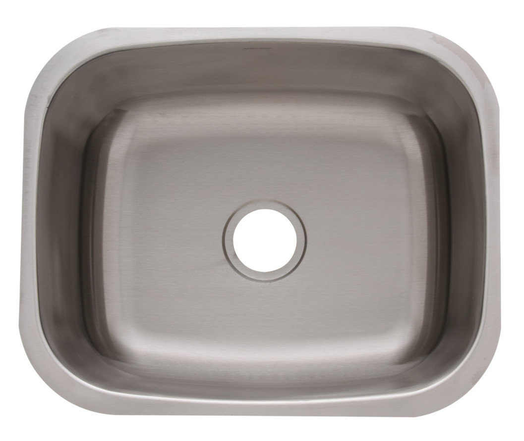 Single Bowl Undermount Builder Stainless Steel Bar Sink