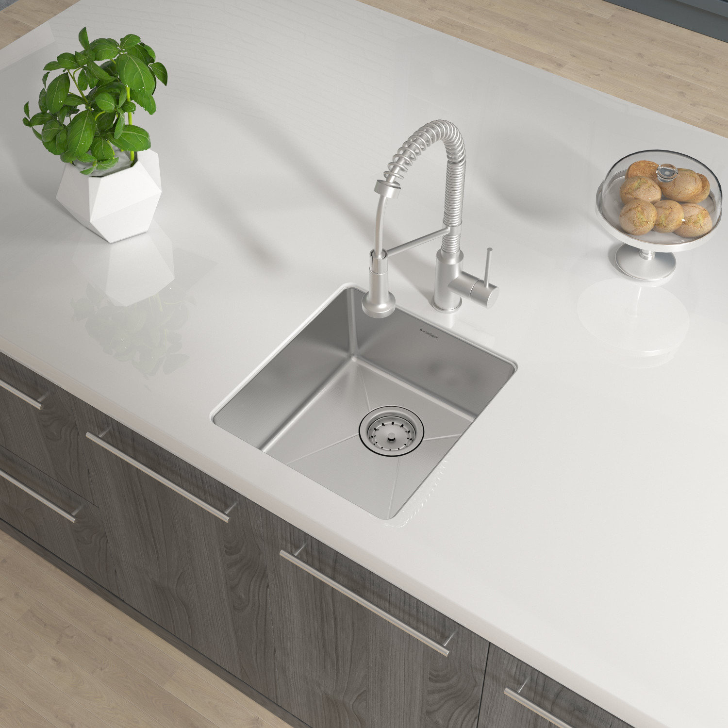Single Bowl Undermount Legend Stainless Steel Bar Sink