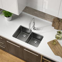 Double Bowl Undermount Granite Composite Kitchen Sink image