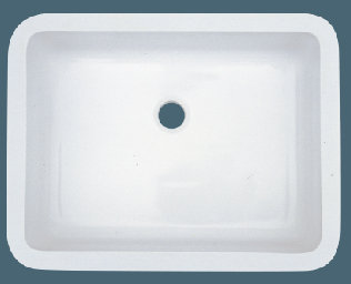 Single Bowl Undermount Solid Surface Acrylic Composite Bathroom Sink