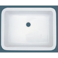 Single Bowl Undermount Solid Surface Acrylic Composite Bathroom Sink image