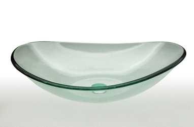 Vessel Handcrafted Tempered Glass Sink