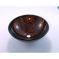 Vessel Handcrafted Tempered Glass Sink image