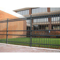 Anti-Ram Barrier with Ornamental Steel Fence image