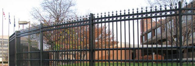 Anti-Ram Industrial Ornamental Steel Fence