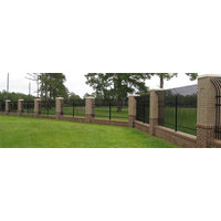 Industrial Welded Ornamental Steel Fence image