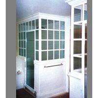 American Shower Door Corp. image | Wood Overlay Shower Door