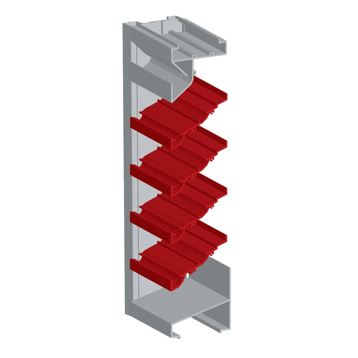 "4"" Extruded Aluminum High Performance Drain Blade Louver"