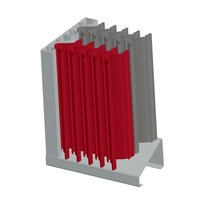 "8"" Extruded Aluminum Vertical Blade Sand Louver image"