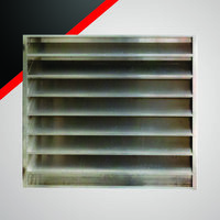 "6"" Deep Aluminum or Steel Acoustical Louver with 6"" On Center Blade Spacing image"