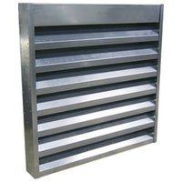 "8"" Deep Aluminum or Steel Acoustical Louver with 8"" On Center Blade Spacing image"