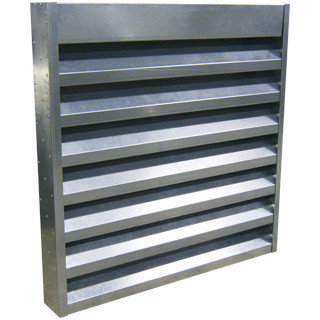 "4"" Deep Steel Acoustical Louver 45 degrees  Blades High/Low Frequency"