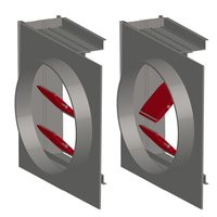 Rectangular Pin Lock Multi-Blade Airfoil Aluminum Control Damper with Transitions image