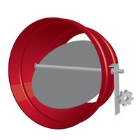 Round Single Blade Galvanized Steel Damper with Honeywell Actuator image