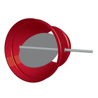 Round Single Blade Stainless Steel Damper image