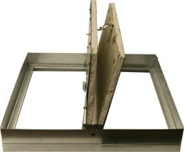 Two Bladed Insulated Static Rectangular Ceiling Radiation Damper