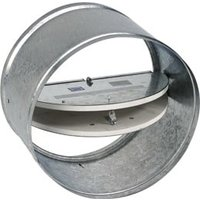 Two Bladed Insulated Static Round Ceiling Radiation Damper image