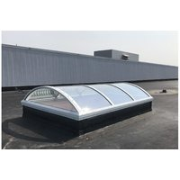 Acrylic Barrel Vault Continuous Skylight with Vertical Ends image