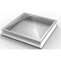 Frost-Free Commercial Pyramid Curbmount Skylight with Aluminum Curb (Thermoformed Acrylic) image