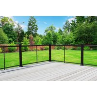 New - Cable Railing with Powder-Coated Aluminum Posts image
