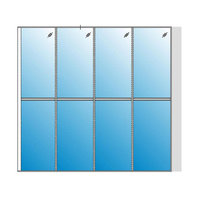 High Wall Glass Partition Systems image