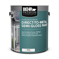 Behr Paint Company image | BEHR PREMIUM® Interior/Exterior Direct-To-Metal Semi-Gloss Paint No. 3200