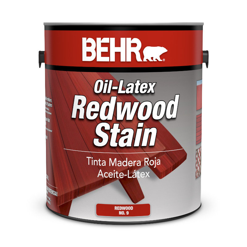 BEHR® Oil-Latex Redwood Stain No. 9