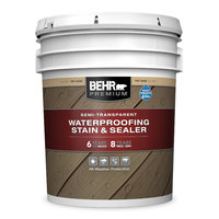 BEHR PREMIUM® SEMI-TRANSPARENT WATERPROOFING STAIN & SEALER No. 5077 image