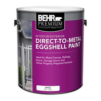 BEHR PREMIUM® Interior/Exterior Direct-To-Metal Eggshell Paint No. 7200 image