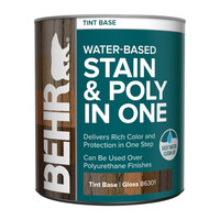 BEHR® WATER-BASED STAIN & POLY IN ONE image