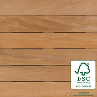"2′ x 2′ FSC® 100% Garapa Wood Tile "" Smooth image"