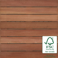 "2′ x 2′ FSC® 100% Massaranduba Wood Tile "" Ribbed image"