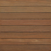 "2′ x 2′ Ipe Wood Tile "" Ribbed image"