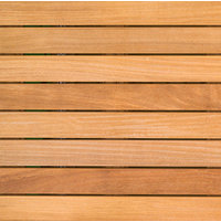 "2′ x 2′ Cumaru Wood Tile "" Smooth image"