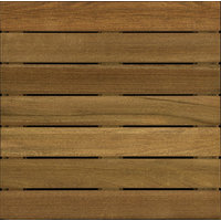 2′ x 2′ Cumaru Wood Deck Tile Ribbed image