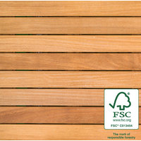 "2′ x 2′ FSC® 100% Cumaru Wood Tile "" Smooth image"