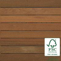 "2′ x 2′ FSC® 100% Ipe Wood Tile "" Smooth image"